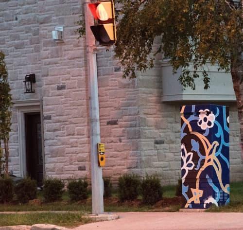 Street Murals by Aitak Sorahi seen at Willowdale, Toronto - Traffic Box Mural