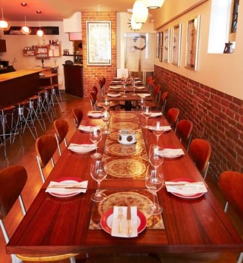 Tables by Sebastian Parker seen at 20 SPOT, San Francisco - Walnut Dining Tables