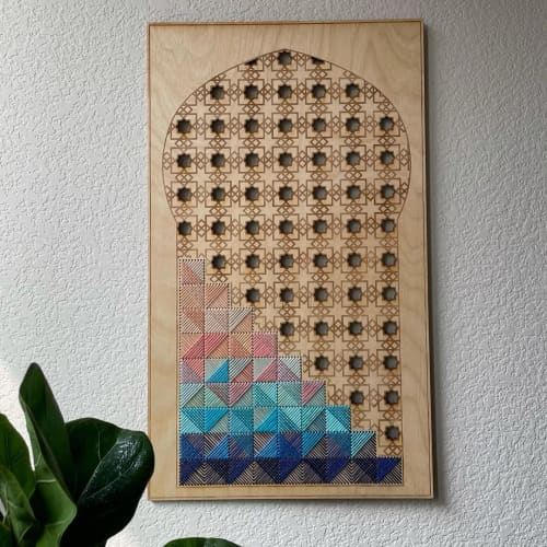 Sacred Stillness Embroidery | Wall Hangings by Nosheen iqbal