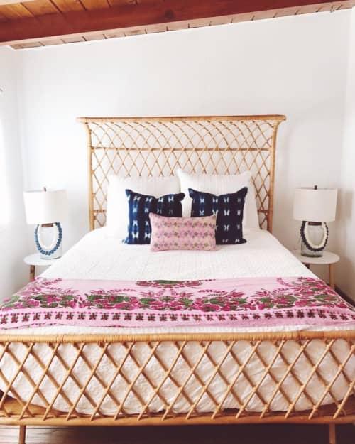 Pink Lumbar Pillow   Pillows by Homegirl Collection