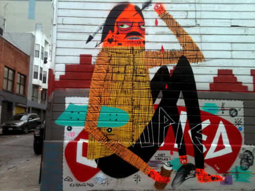 American Indian Occupation   Street Murals by Jaque Fragua   Austin Street and Polk Street, SF in San Francisco
