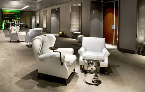Chairs by XO Design seen at SLS Hotel, a Luxury Collection Hotel, Beverly Hills, Los Angeles - Bonze Porcelain Stool