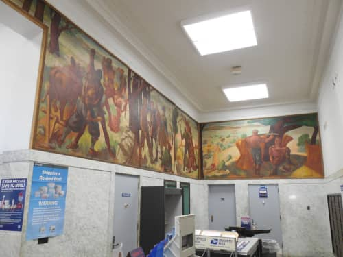 Scenes of Local History in the Colonial Period   Murals by Jacob Getlar Smith   United States Postal Service, Nyack, NY in Nyack