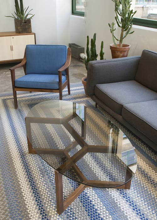 Tables by Robert Sukrachand seen at Etsy, DUMBO, Brooklyn - Bronze Glass Coffee Table