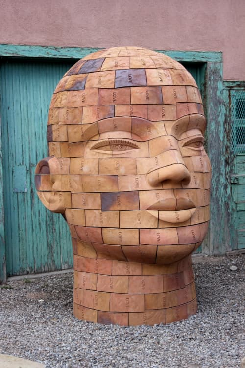 Sculptures by James Tyler seen at Nuart Gallery, Santa Fe - Brickhead LOVE