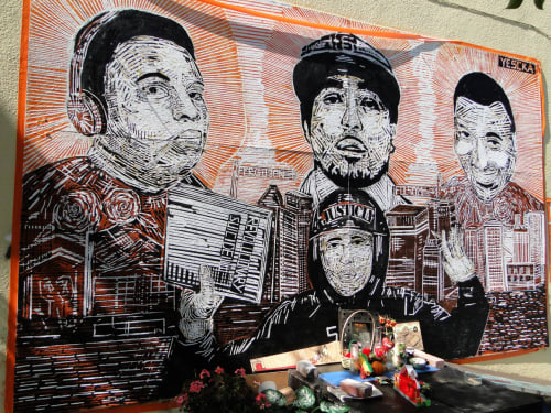 Justice | Street Murals by YESCKA | 23rd Street, Mission District in San Francisco