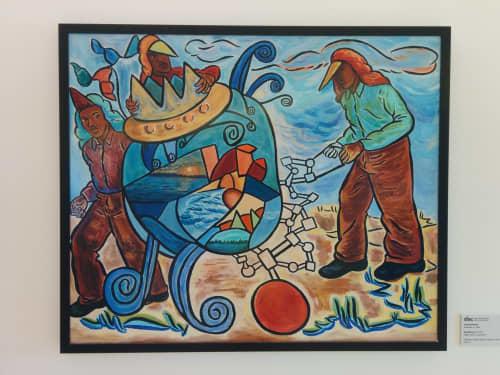 Big Machine   Paintings by John Bankston   Zuckerberg San Francisco General Hospital and Trauma Center in San Francisco