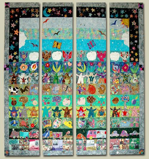 Sunnyvale Community Quilt | Art & Wall Decor by Therese May | Sunnyvale Community Center in Sunnyvale