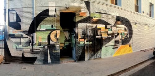 Murals by Augustine Kofie seen at American Hotel, Los Angeles - Untitled Freestyle