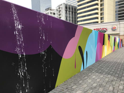 Murals by Ryan Coleman seen at Five Points Marta Station, Atlanta GA, Atlanta - Five Points