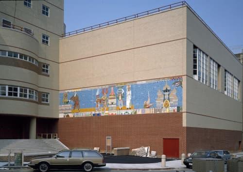 Murals by Joyce Kozloff seen at I.S. 218 Salome Urena, New York - Caribbean Festival Arts
