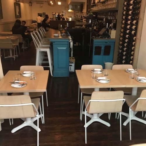 Tables by Caveman Build & Supply Co. seen at ARDO Restaurant, Toronto - Custom Tables