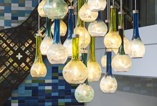 Chandeliers by Julie Conway (Illuminata Art Glass Design LLC) seen at Ovation 309, Madison - Cascade
