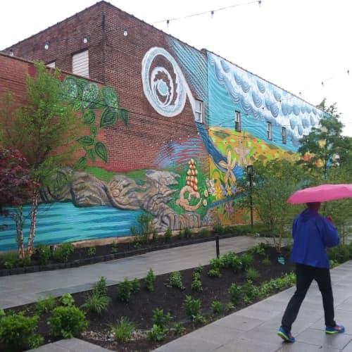 Watershed | Street Murals by Paul Santoleri | Roxborough Pocket Park in Philadelphia