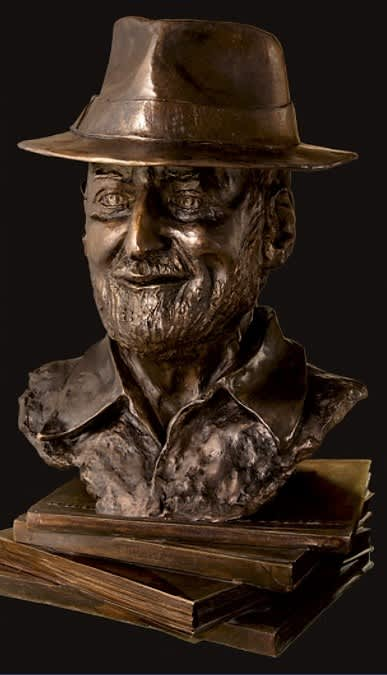 Poet Laureate Lawrence Ferlinghetti   Sculptures by Dina Angel-Wing   North Beach Library in San Francisco
