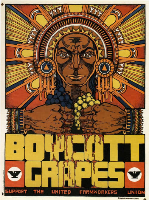 Boycott Grapes, Support the United Farm Workers Union | Paintings by Xavier Viramontes | Smithsonian American Art Museum in Washington