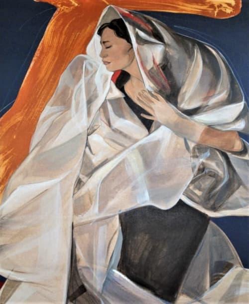Paintings by Benedicto Reyes Cabrera (BenCab) seen at BenCab Museum, Tuba - Sabel