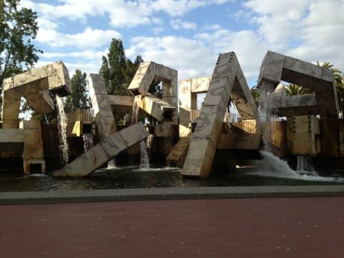 Public Sculptures by Armand Vaillancourt seen at Justin Herman Plaza, San Francisco - Québec Libre!
