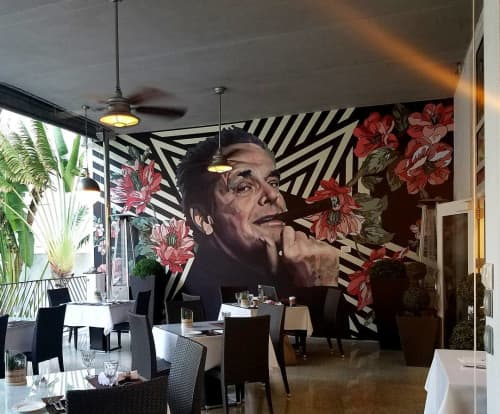 Smokin Jack Nicholson Mural | Murals by Elisabetta Fantone Art | National Hotel in Miami Beach