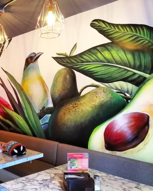 Mural Lavocadería | Murals by La Rivera Ilustrada | Lavocadería in Medellín
