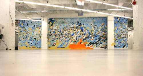 Murals by Justus Roe seen at 1871 West Merchandise Mart Plaza, Chicago, IL, Chicago - 1871 Mural