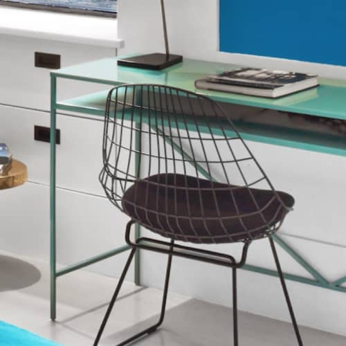 Chairs by Cees Braakman seen at The William NYC, New York - Wire Dining Chair
