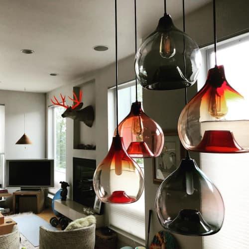 Pendants by Esque Studio at Saffron Fields Vineyard, Yamhill - Waterdrop Pendant Light