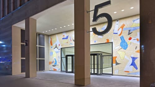 Mosaic Mural   Street Murals by Max Spivak   5 Bryant Park in New York
