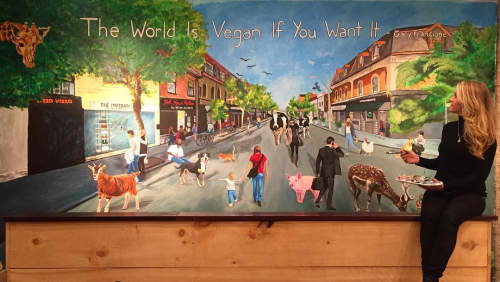 The World Is Vegan If You Want It | Murals by Jacqueline Poirier | The Imperative in Toronto