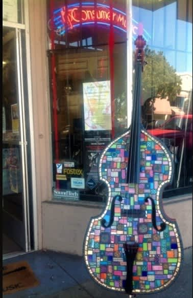Paintings by Sherry Tobin at Consumer Music, Vallejo - Art, Music & Magic