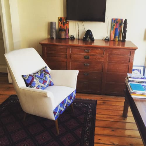 Chairs by 3RD Culture seen at Private Residence, Istanbul - Sokoto Armchair and Cushion