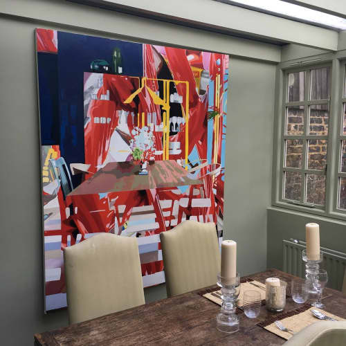 Paintings by Daryll Westly seen at Private Residence - The Red Studio
