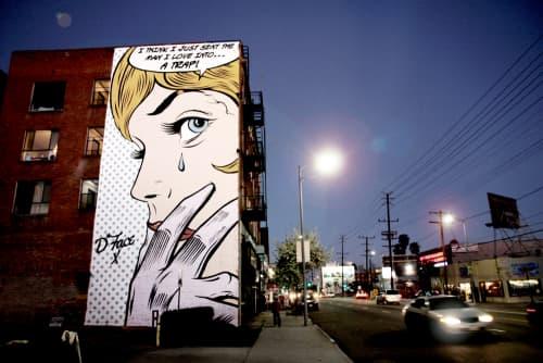 Love Trap   Street Murals by D*Face   5427 Santa Monica Blvd in Los Angeles