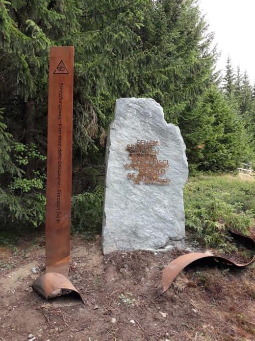 Public Sculptures by Filip Moroder Doss - Creation Trail