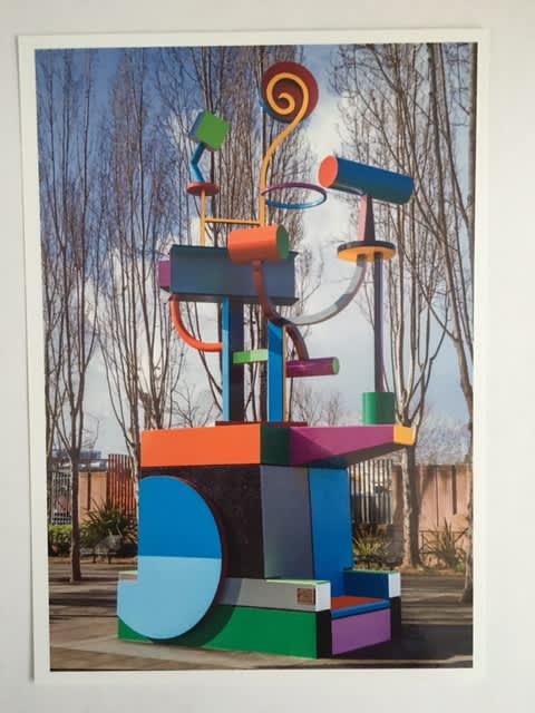 """Helios"" Chariot Of The Sun   Public Sculptures by Joseph Slusky   Bayer Plaza in Berkeley"