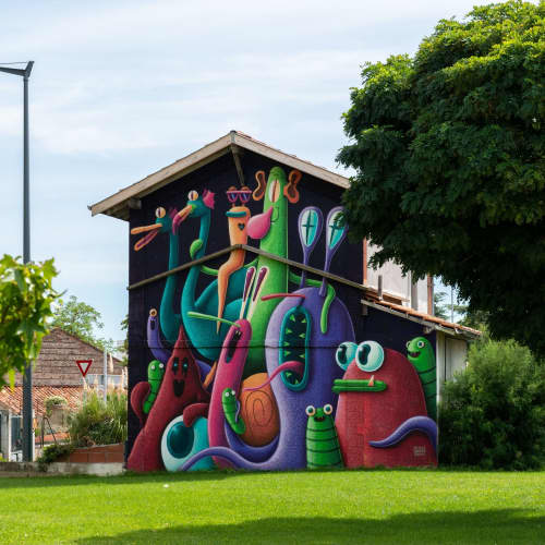 Street Murals by Nicolas Barrome seen at Colomiers, Colomiers - Bifrons for Wikipolis Festival