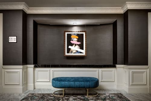 Paintings by Chad Wys seen at The Blackstone, Autograph Collection, Chicago - Brutalized Gainsborough