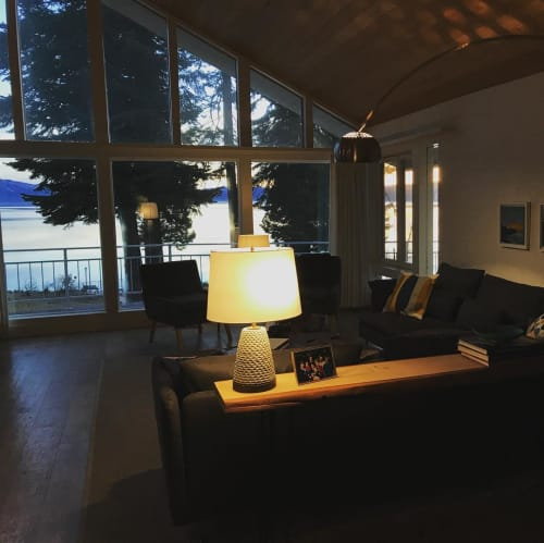 Lamps by AG Ceramics seen at Private Residence, Lake Almanor - Carved Lamp