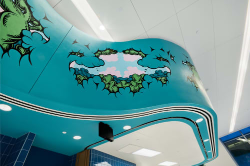 Forest Frieze | Murals by Mark Dean Veca | Spruce Street School in New York