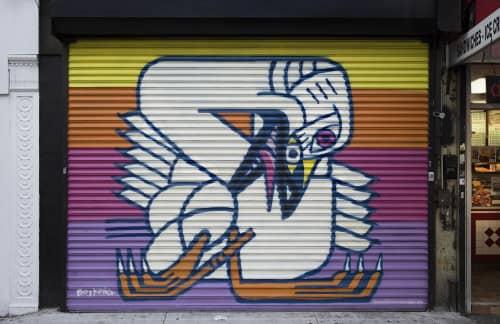 Street Murals by Boy Kong seen at 3631 Broadway, New York - Tundra Swan