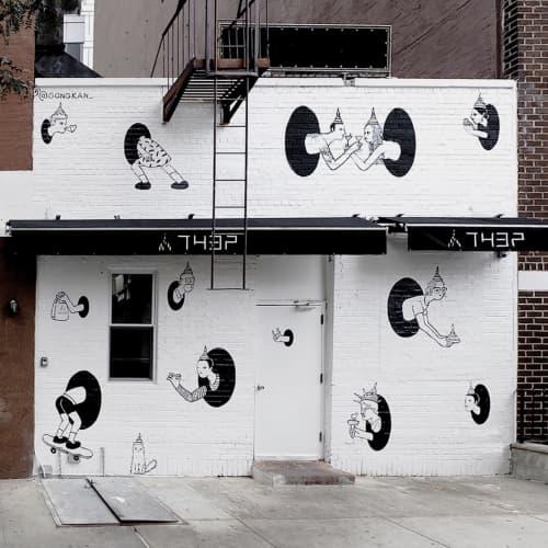 Teleport | Street Murals by Kantapon Metheekul | Manhattan New York in New York