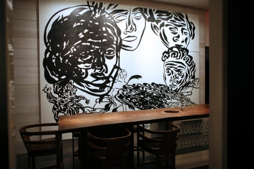 Murals by Carlos Capelán seen at Andaz 5th Avenue, New York - Andaz Murals