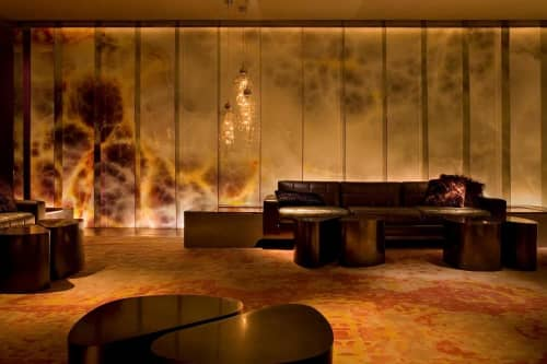 Photographic Art Glass   Photography by Weil Studio   Andaz West Hollywood in West Hollywood