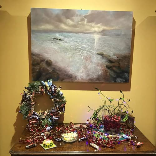 Paintings by Julie Dunster seen at Private Residence - Ocean View Painting