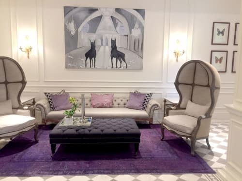 Rugs by S&H Rugs seen at Private Residence, New York - Purple Ovedyed Oushak  Hand Knotted Oriental Rug
