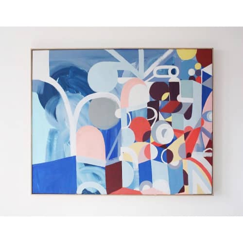 Paintings by Unwell Bunny / Ed Bechervaise at Melbourne, Melbourne - Athens