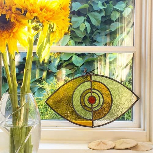 Art & Wall Decor by Colin Adrian Glass - Evil Eye in private home