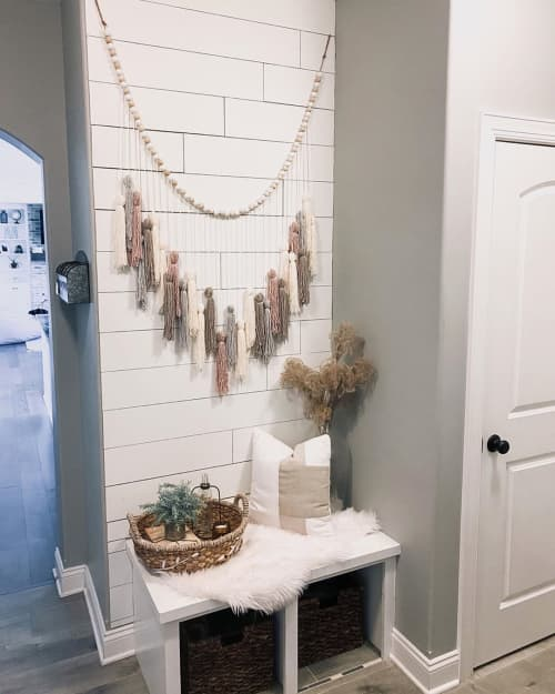 Wall Hangings by Katie Starks at Chelsie Morales' Home - OG Yarn Garland