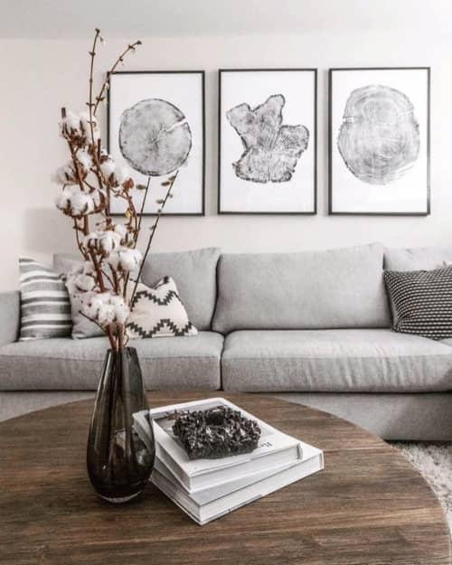 Art & Wall Decor by Erik Linton - Set of 3 Large Tree Ring Prints