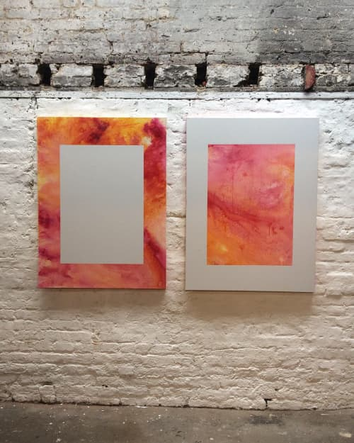 Seep 01&02 | Paintings by Marcus Aitken | hARTslane in London